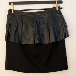 H &M Peplum Faux Leather Skirt
